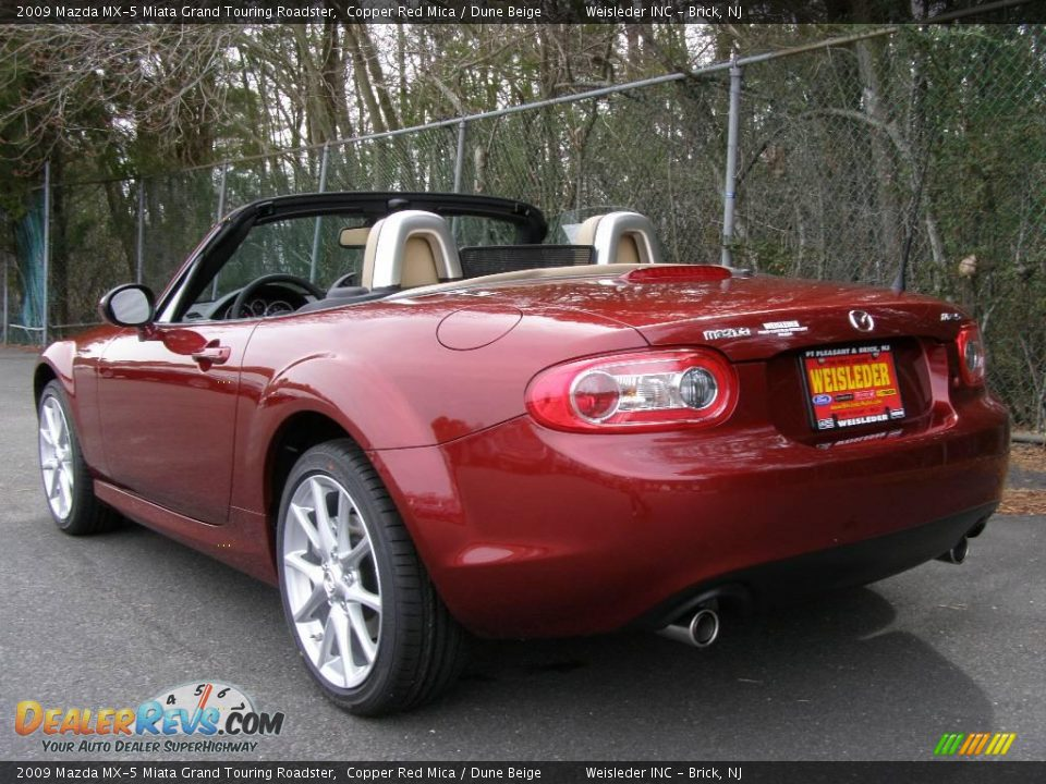 2009 Mazda Mx 5 Miata Grand Touring Roadster Copper Red Mica Dune Beige Photo 4 Dealerrevs Com
