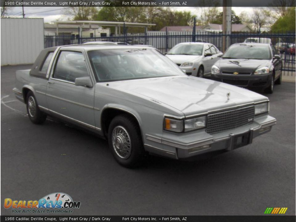 1988 cadillac deville coupe light pearl gray dark gray. Cars Review. Best American Auto & Cars Review