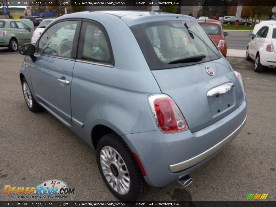 2013 Fiat 500 Lounge Luce Blu Light Blue Avorio Avorio Ivory