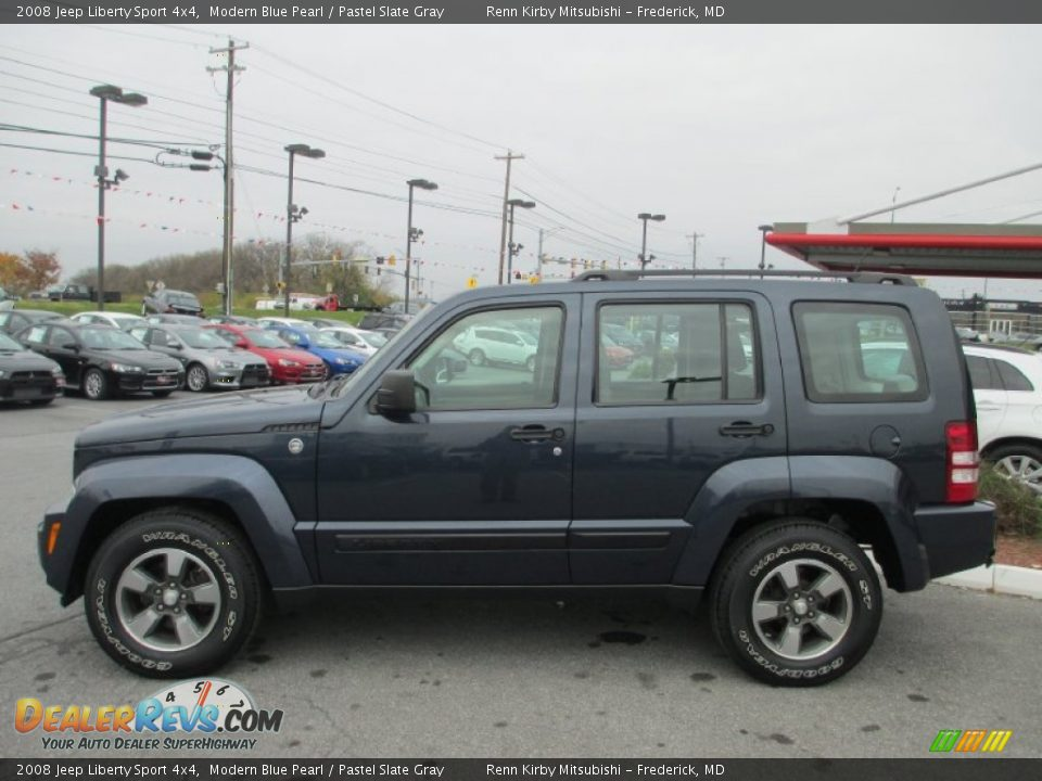 2008 jeep liberty sport 4x4 modern blue pearl pastel slate gray photo 2. Black Bedroom Furniture Sets. Home Design Ideas