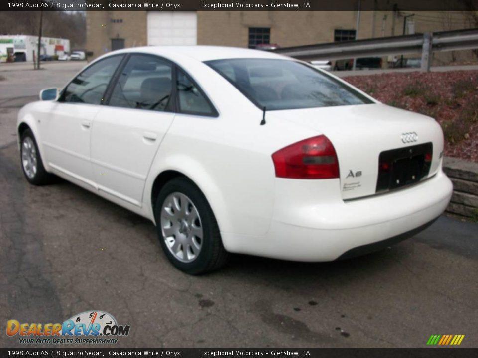1998 Audi A6 2 8 Quattro Sedan Casablanca White Onyx