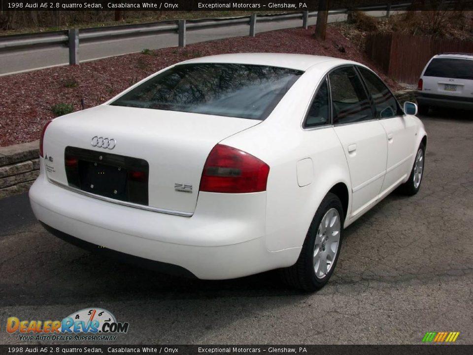 1998 audi a6 2 8 quattro sedan casablanca white onyx photo 5. Black Bedroom Furniture Sets. Home Design Ideas