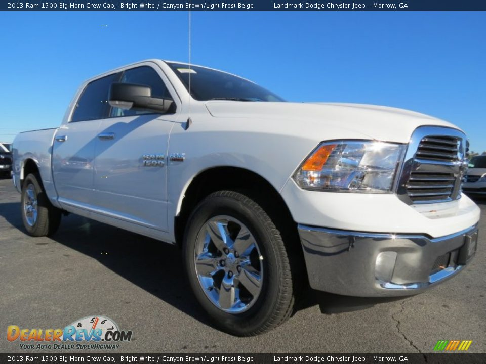 2013 ram 1500 big horn crew cab bright white canyon brown light frost beige photo 4. Black Bedroom Furniture Sets. Home Design Ideas