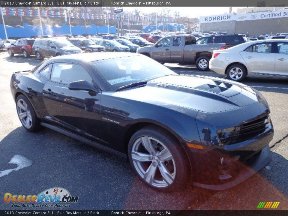 2013 chevrolet camaro zl1 blue ray metallic black photo. Black Bedroom Furniture Sets. Home Design Ideas
