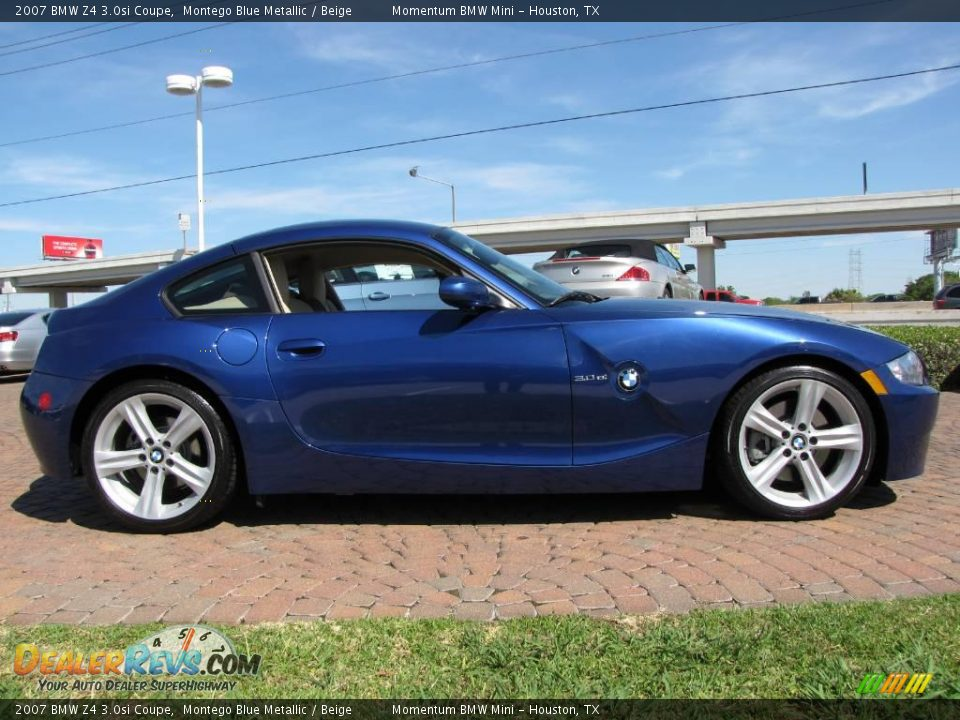 2007 Bmw Z4 30si Coupe Montego Blue Metallic Beige Photo 6