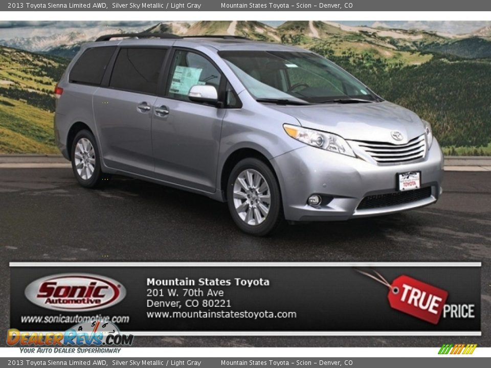 2013 toyota sienna limited awd silver sky metallic light. Black Bedroom Furniture Sets. Home Design Ideas