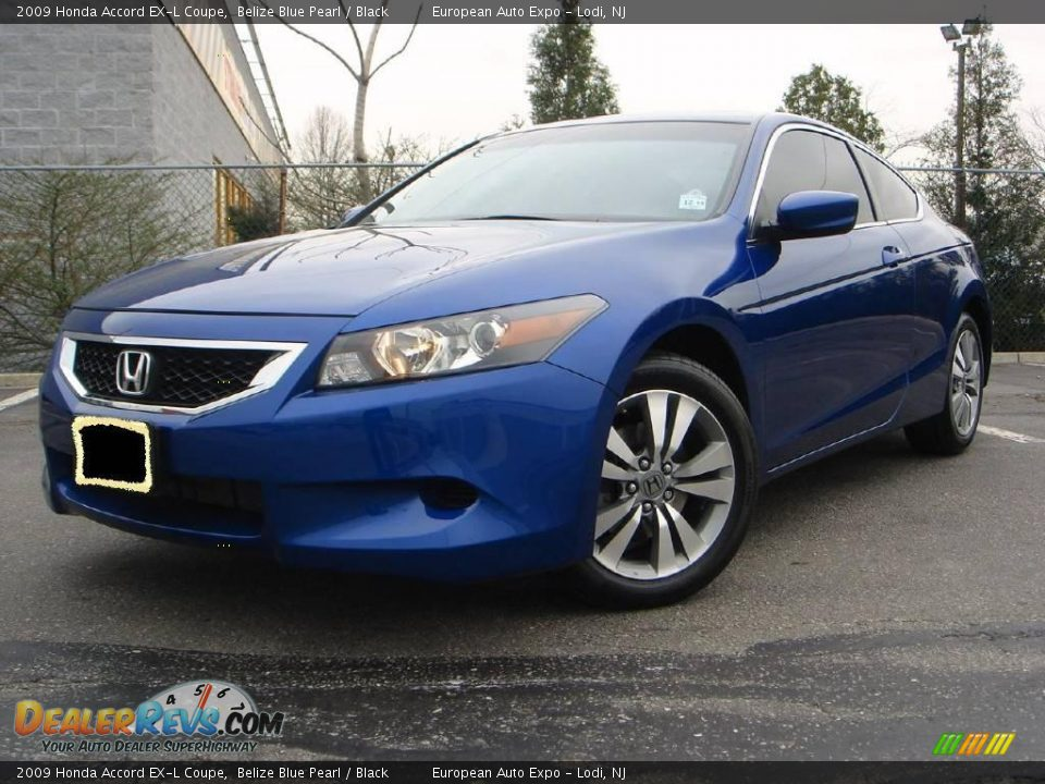 2009 honda accord ex l coupe belize blue pearl black. Black Bedroom Furniture Sets. Home Design Ideas