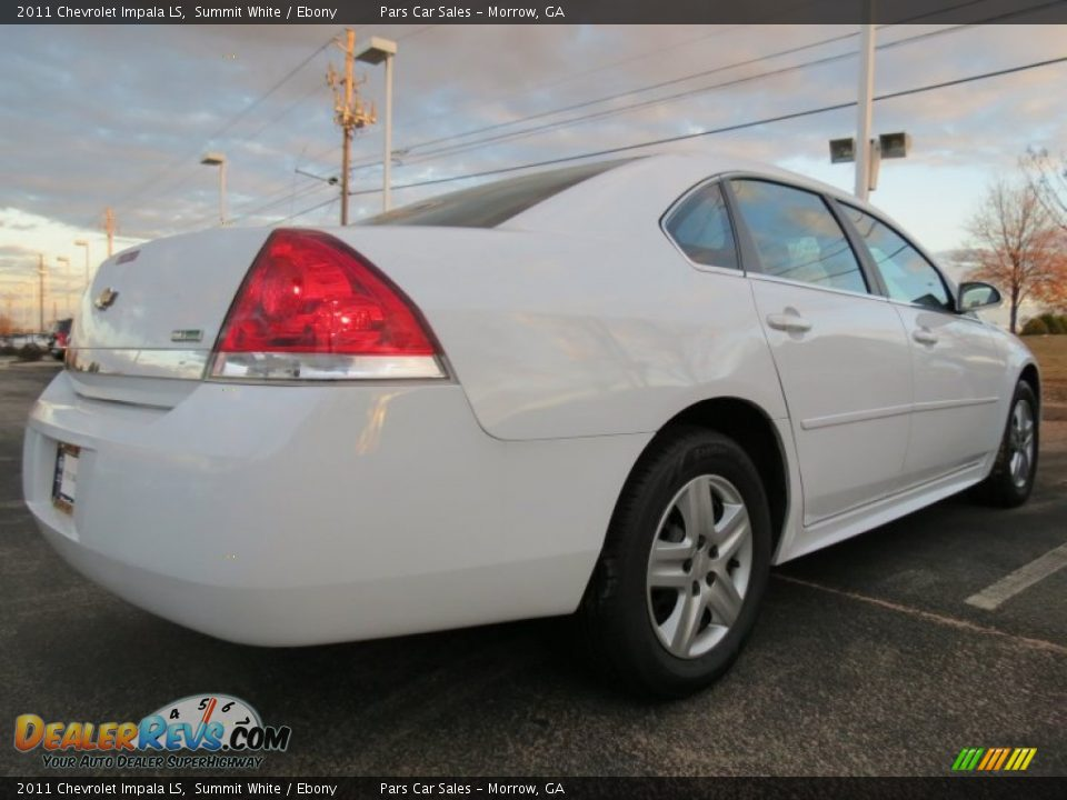2011 Chevrolet Impala LS Summit White / Ebony Photo #3