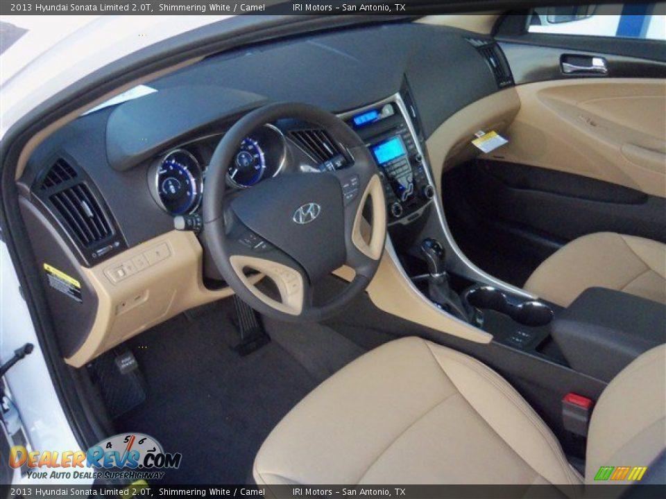 2013 Hyundai Sonata Limited 2.0T Shimmering White / Camel Photo #12