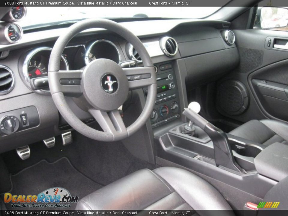 Dark Charcoal Interior 2008 Ford Mustang Gt Premium Coupe Photo 9