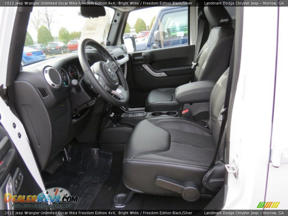 front seat of 2013 jeep wrangler unlimited oscar mike freedom edition 4x4 photo 7. Black Bedroom Furniture Sets. Home Design Ideas