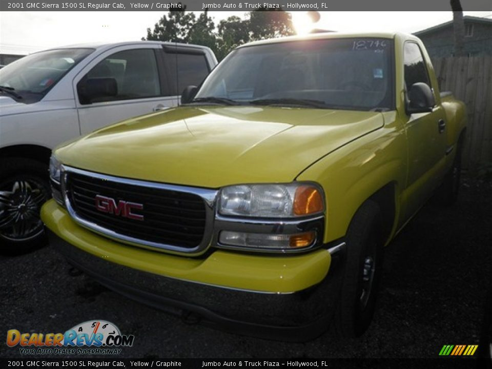 2001 gmc sierra 1500 sl regular cab yellow graphite photo 3. Black Bedroom Furniture Sets. Home Design Ideas