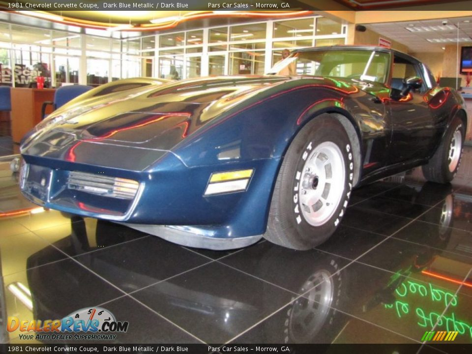 1981 Chevrolet Corvette Coupe Dark Blue Metallic / Dark Blue Photo #1