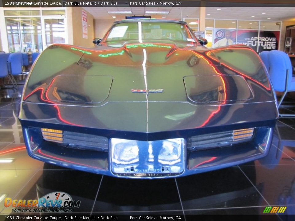 1981 Chevrolet Corvette Coupe Dark Blue Metallic / Dark Blue Photo #2