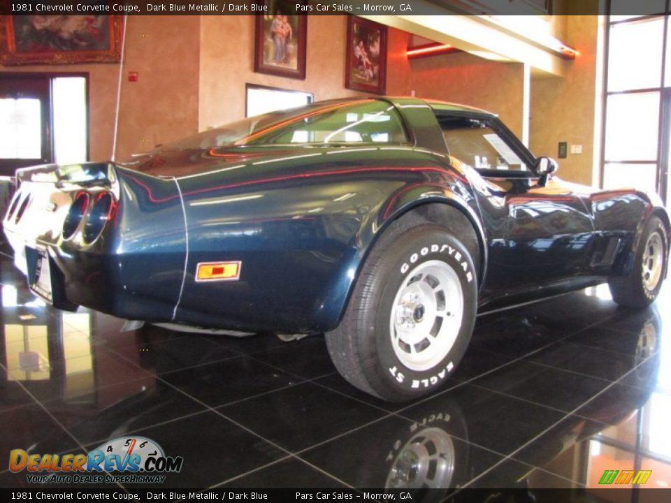 Dark Blue Metallic 1981 Chevrolet Corvette Coupe Photo #3