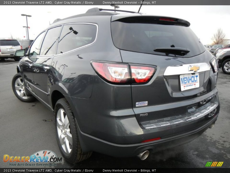 2013 chevrolet traverse ltz awd cyber gray metallic. Black Bedroom Furniture Sets. Home Design Ideas