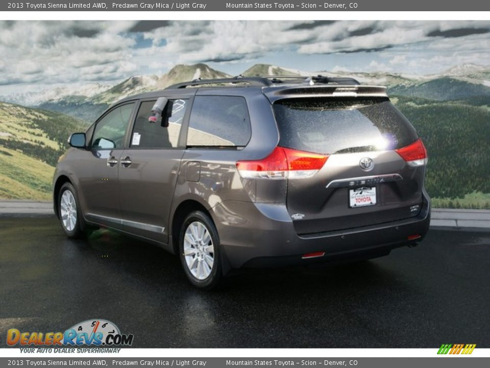 2013 toyota sienna limited awd predawn gray mica light. Black Bedroom Furniture Sets. Home Design Ideas