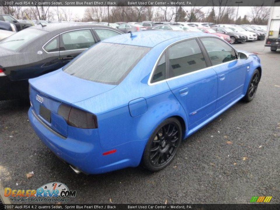 Sprint Blue Pearl Effect 2007 Audi Rs4 4 2 Quattro Sedan