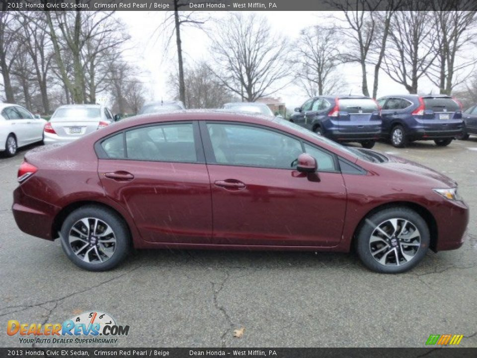 Crimson Red Pearl 2013 Honda Civic EX Sedan Photo #5
