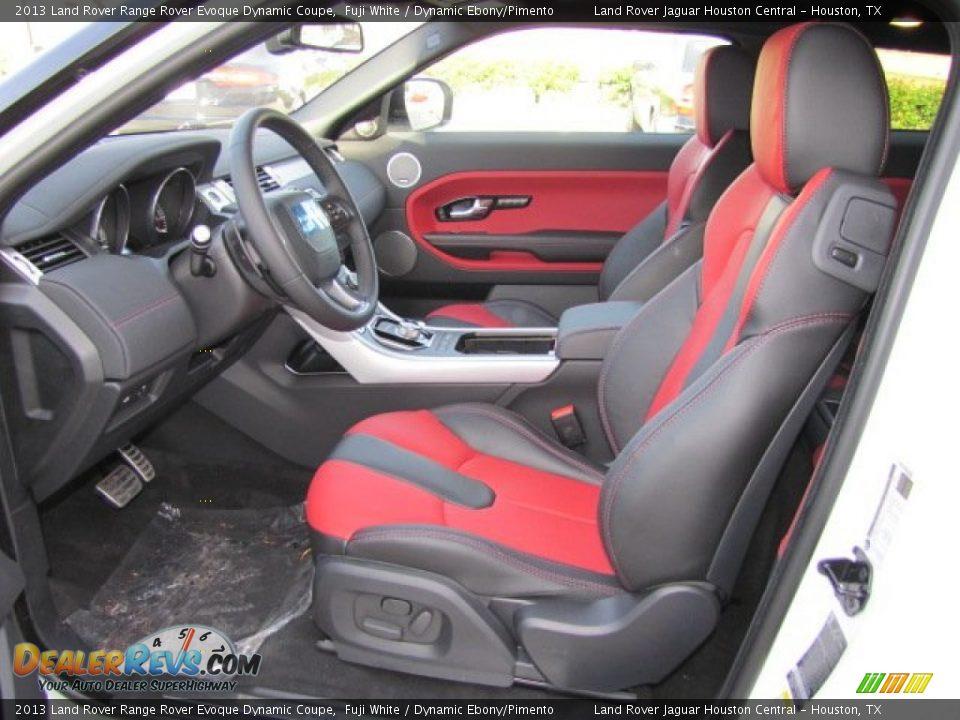 Dynamic Ebony Pimento Interior 2013 Land Rover Range Rover Evoque Dynamic Coupe Photo 13