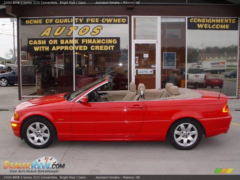 2000 bmw 3 series 323i convertible bright red sand photo. Black Bedroom Furniture Sets. Home Design Ideas