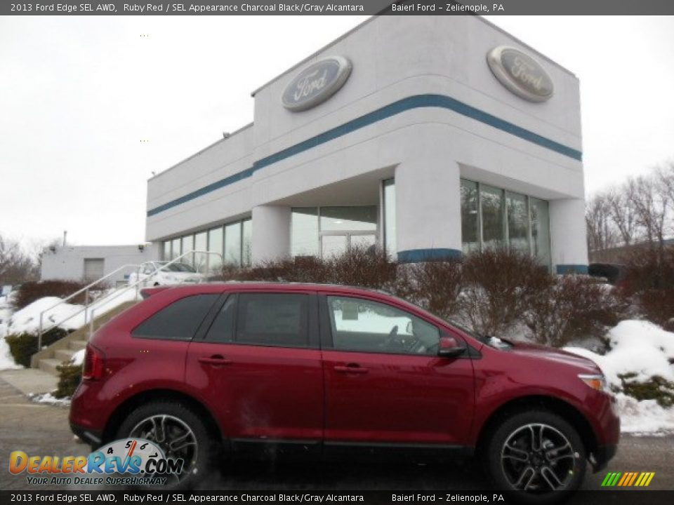 2013 ford edge sel awd ruby red sel appearance charcoal black gray alcantara photo 1. Black Bedroom Furniture Sets. Home Design Ideas