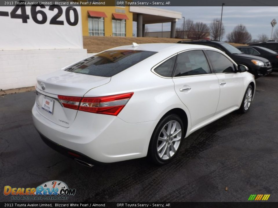 2013 Toyota Avalon Limited Blizzard White Pearl Almond