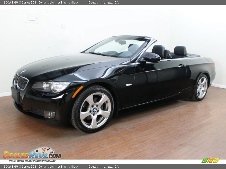 2009 bmw 3 series 328i convertible jet black black photo 1. Black Bedroom Furniture Sets. Home Design Ideas