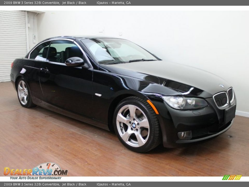 2009 bmw 3 series 328i convertible jet black black photo 4. Black Bedroom Furniture Sets. Home Design Ideas