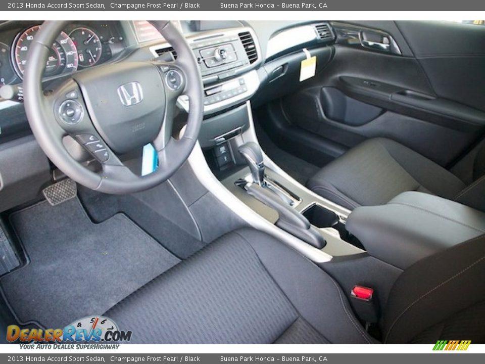 Black Interior 2013 Honda Accord Sport Sedan Photo 10