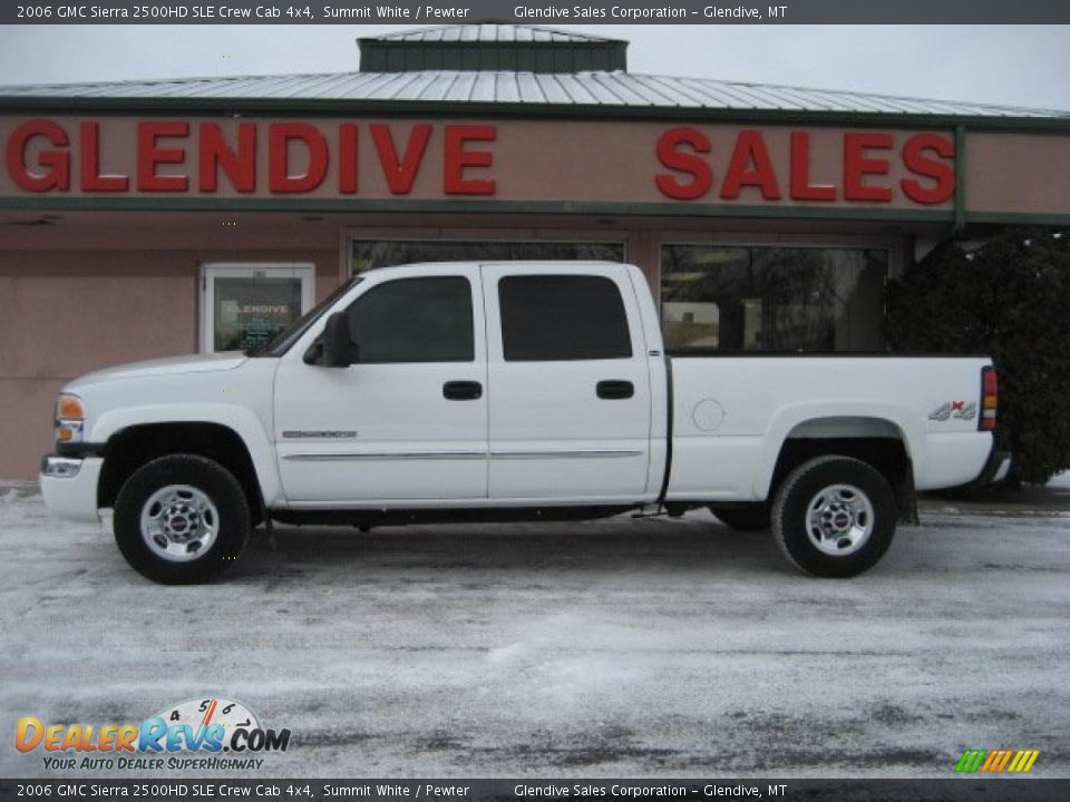 2006 gmc sierra 2500hd sle crew cab 4x4 summit white. Black Bedroom Furniture Sets. Home Design Ideas