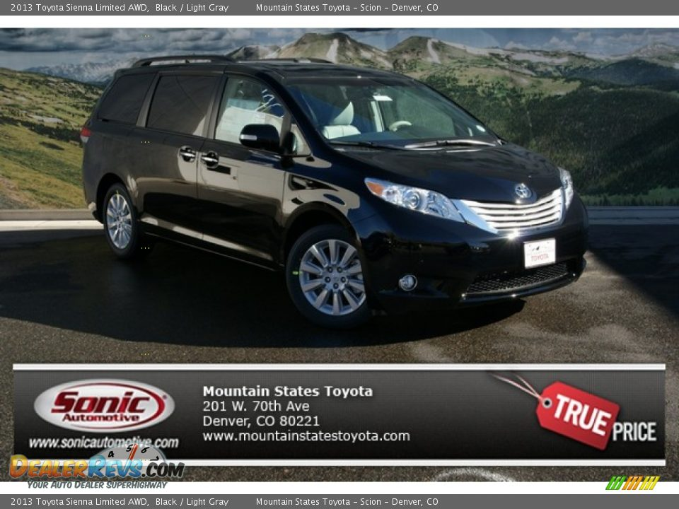2013 toyota sienna limited awd black light gray photo 1. Black Bedroom Furniture Sets. Home Design Ideas