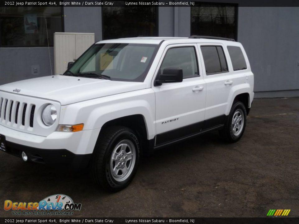 2012 jeep patriot sport 4x4 bright white dark slate gray. Black Bedroom Furniture Sets. Home Design Ideas