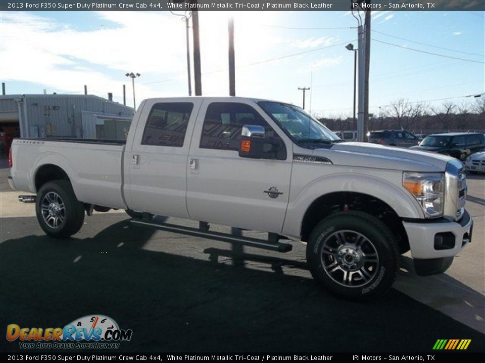 2013 ford f350 super duty platinum crew cab 4x4 white. Black Bedroom Furniture Sets. Home Design Ideas