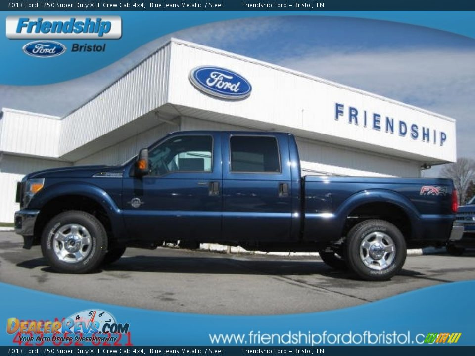 Ford F150 For Sale In Houston Tx 2013 Ford F250 Super Duty XLT Crew Cab 4x4 Blue Jeans Metallic / Steel
