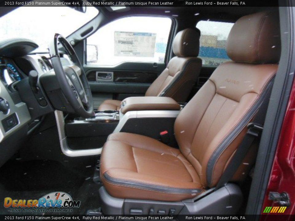 Platinum Unique Pecan Leather Interior 2013 Ford F150 Platinum Supercrew 4x4 Photo 11 Dealerrevs Com