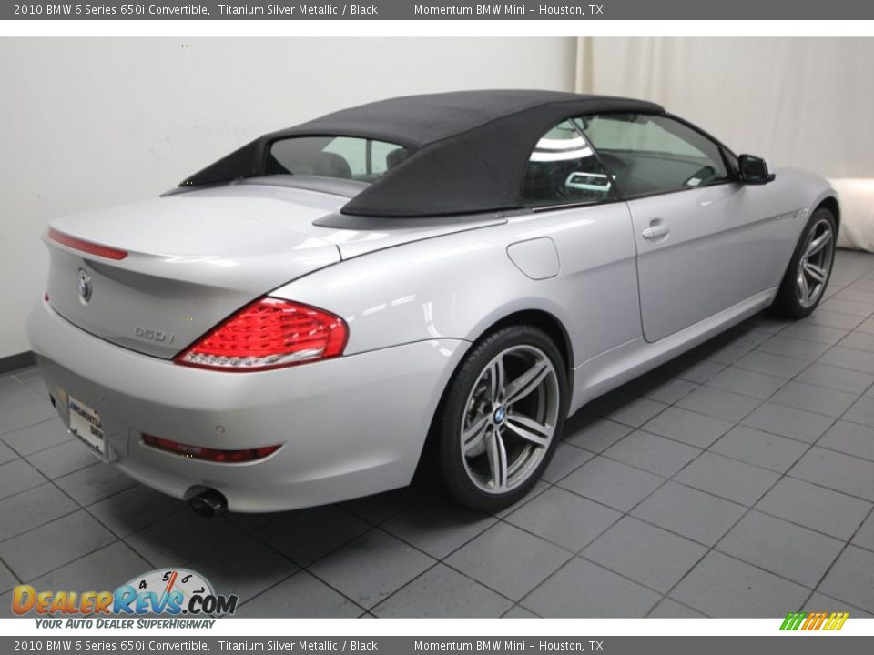 2010 bmw 6 series 650i convertible titanium silver. Black Bedroom Furniture Sets. Home Design Ideas