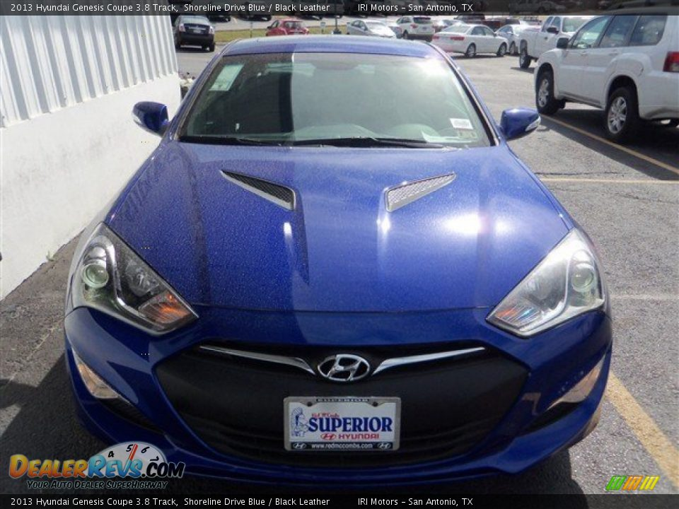 2013 hyundai genesis coupe 3 8 track shoreline drive blue black leather photo 2. Black Bedroom Furniture Sets. Home Design Ideas