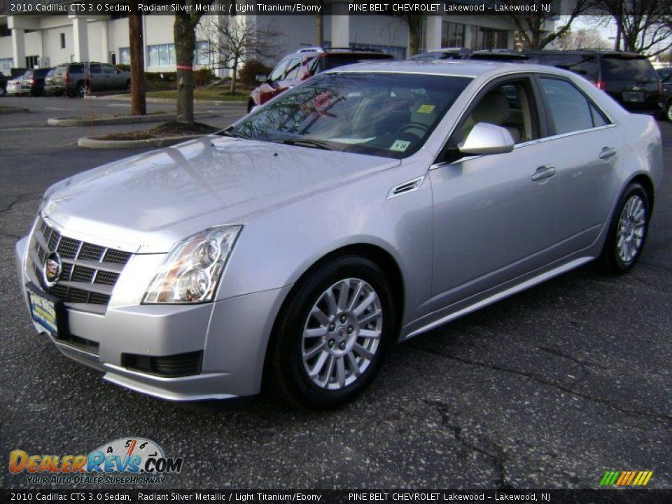 2010 Cadillac Cts 3 0 Sedan Radiant Silver Metallic