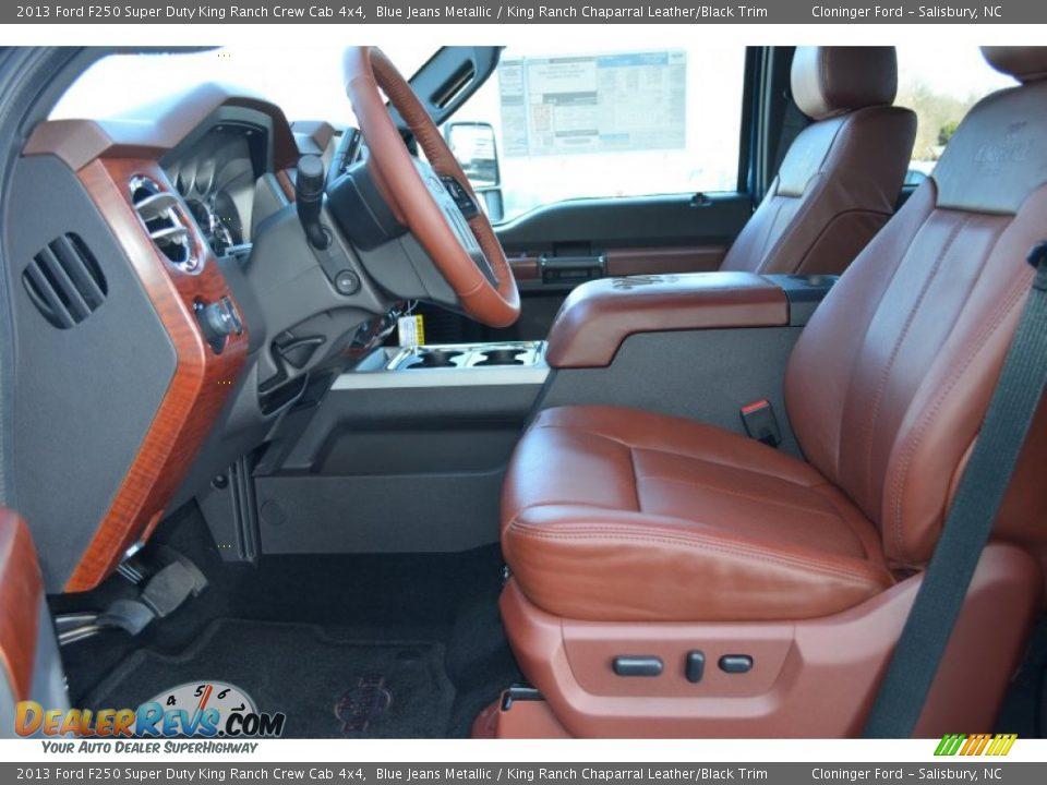 king ranch chaparral leatherblack trim interior 2013