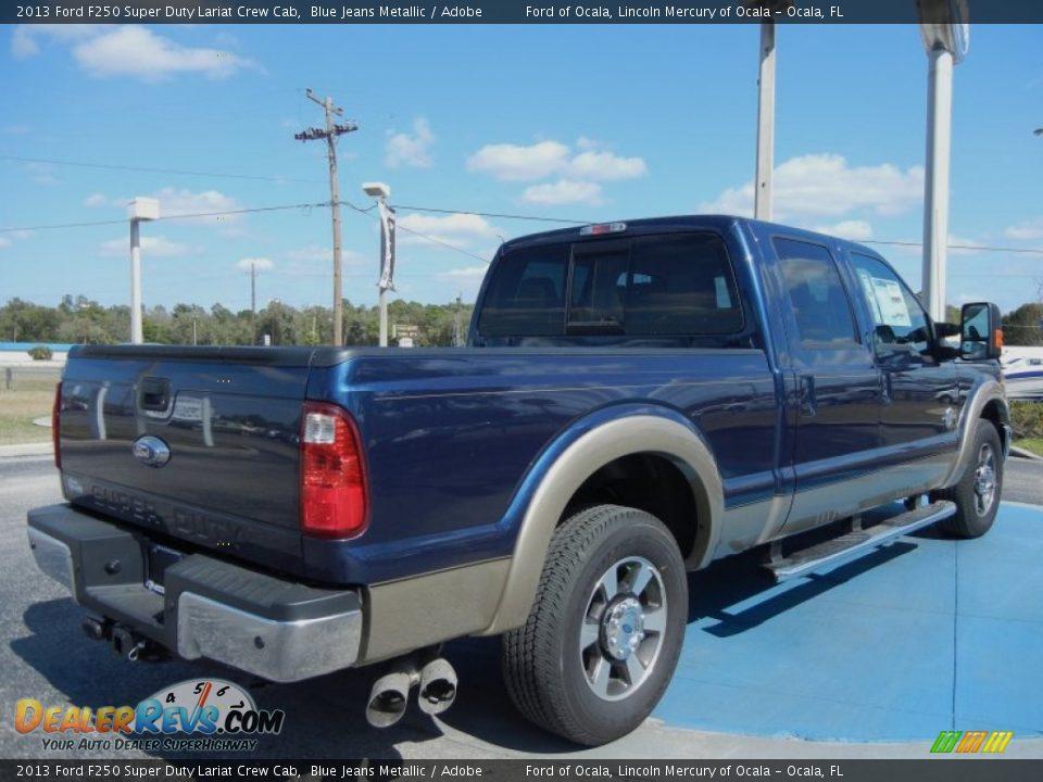 This Blue Jeans Metallic 2013 Ford F250 Super Duty Lariat Crew Cab 4x4