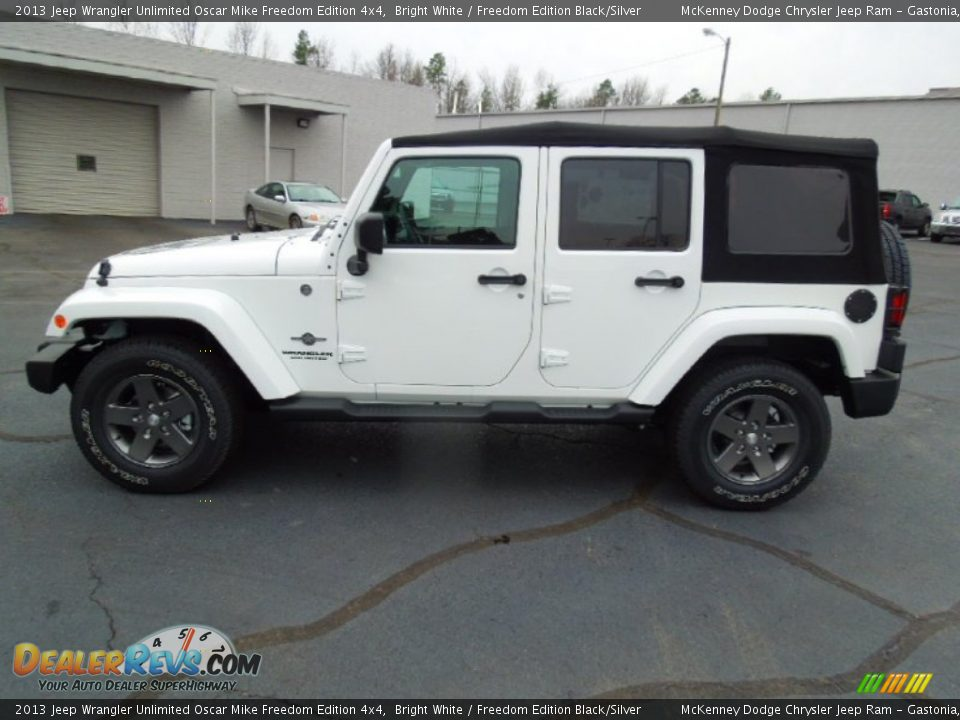 Bright White 2013 Jeep Wrangler Unlimited Oscar Mike