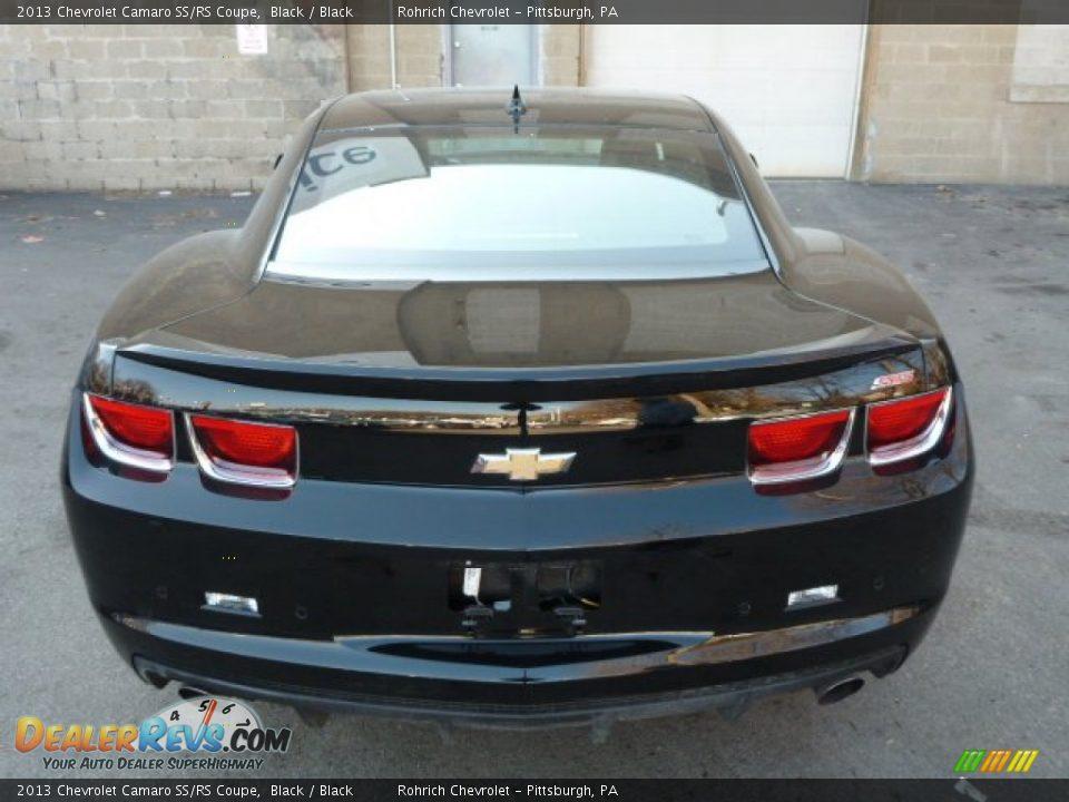 2013 chevrolet camaro ssrs coupe black black photo 4