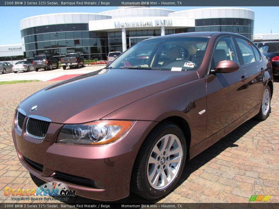 2006 bmw 3 series 325i sedan barrique red metallic beige. Black Bedroom Furniture Sets. Home Design Ideas