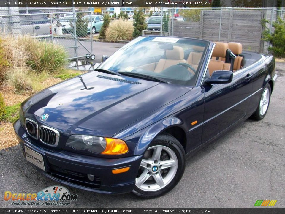 2003 bmw 3 series 325i convertible orient blue metallic natural brown photo 2. Black Bedroom Furniture Sets. Home Design Ideas