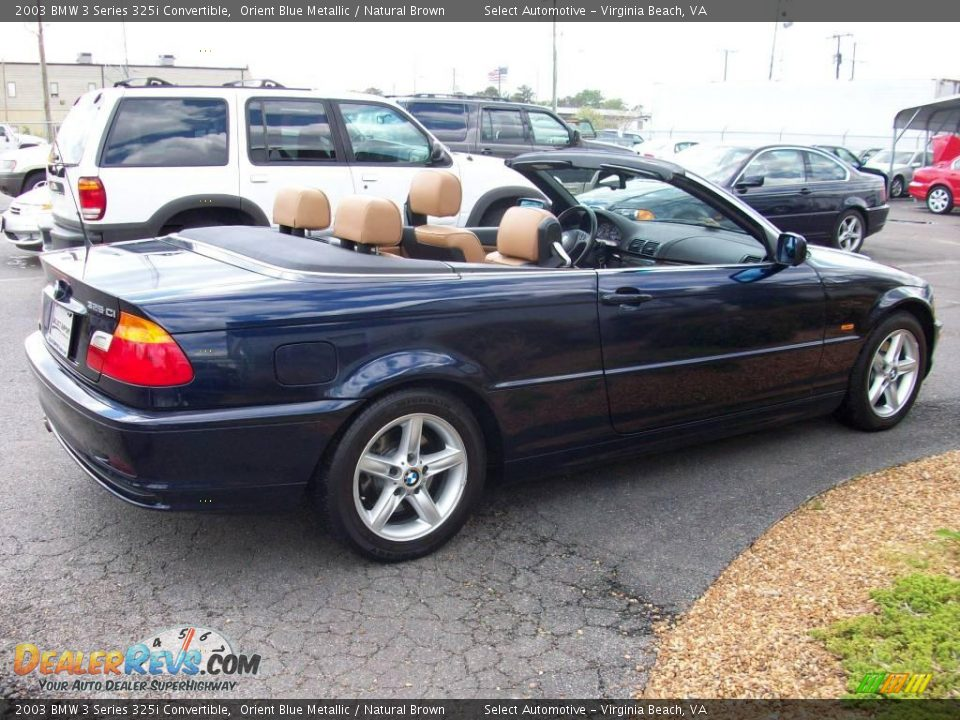 2003 bmw 3 series 325i convertible orient blue metallic natural brown photo 8. Black Bedroom Furniture Sets. Home Design Ideas
