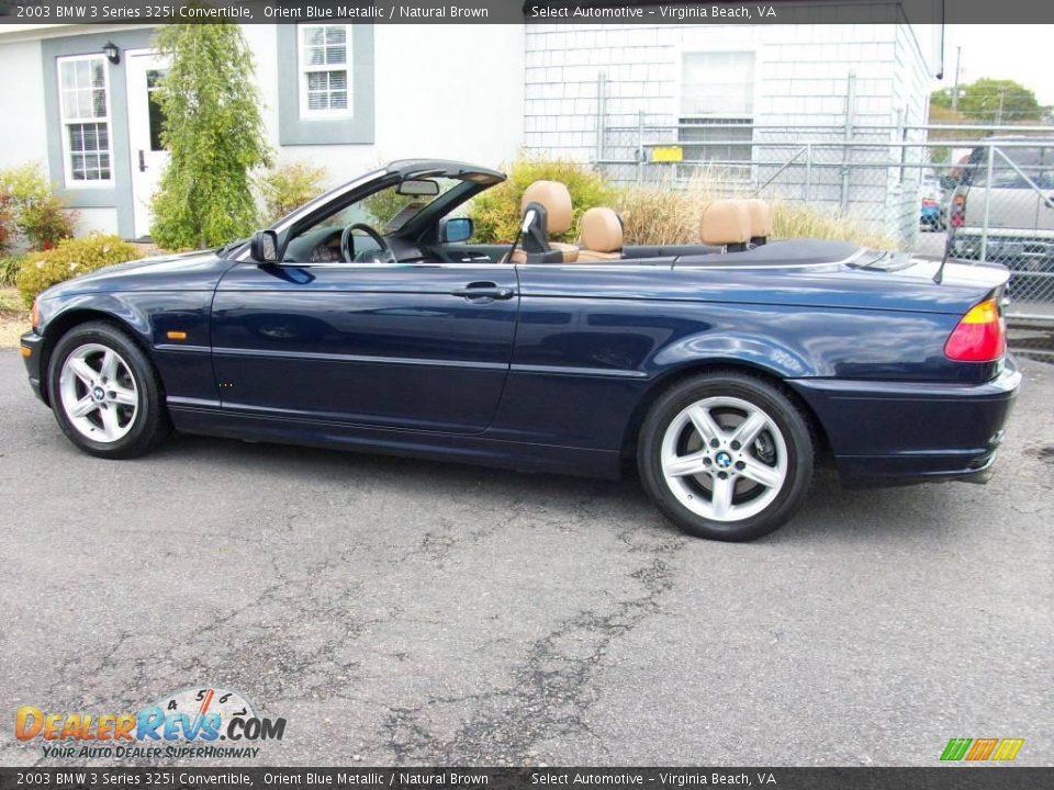 2003 Bmw 3 Series 325i Convertible Orient Blue Metallic