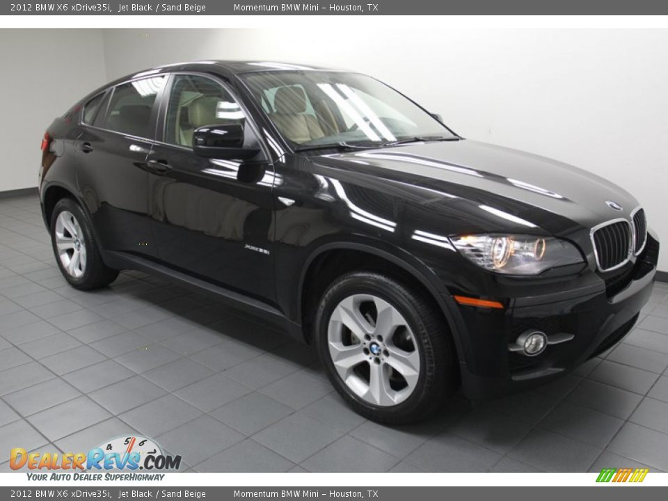 2012 Bmw X6 Xdrive35i Jet Black Sand Beige Photo 8