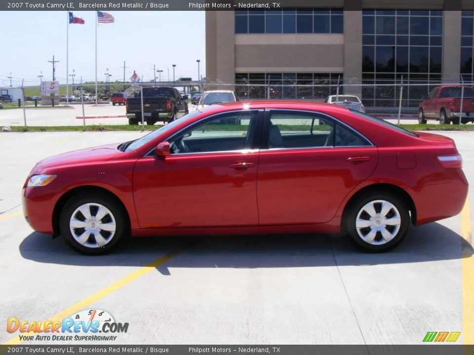 2007 Toyota Camry Le Barcelona Red Metallic Bisque Photo