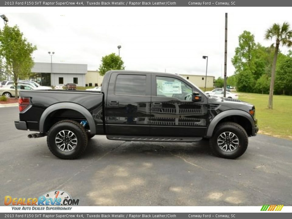 2013 ford f150 svt raptor supercrew 4x4 tuxedo black metallic raptor black leather cloth photo. Black Bedroom Furniture Sets. Home Design Ideas